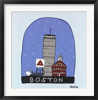 Framed Boston Snow Globe