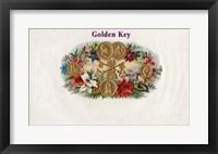 Framed Golden Key