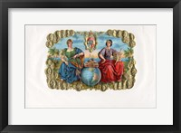 Framed Vintage Cigar Label III