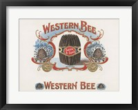 Framed Western Bee