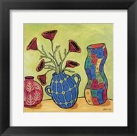 Framed Three Vases