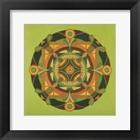 Framed Autumn Mandala