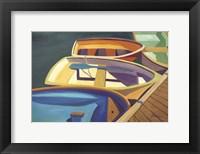 Framed Four Rowboats