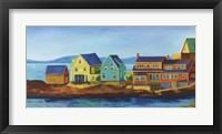 Framed Monhegan Docks
