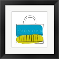 Framed Blue and Green Purse
