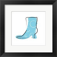 Framed Blue Boot