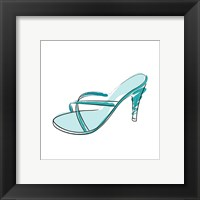 Framed Blue High Heel Sandal