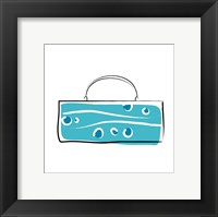 Framed Blue Purse
