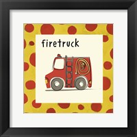 Framed Firetruck with Border