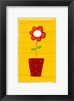 Framed Orange Flower in Orange Pot