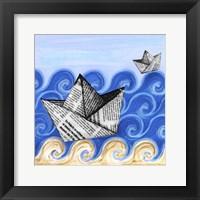 Framed Paper Boats
