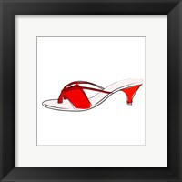 Framed Red Sandal