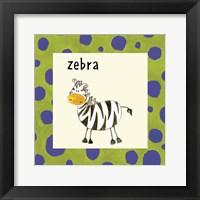 Framed Zebra with Border