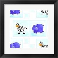 Framed Zebras and Hippos