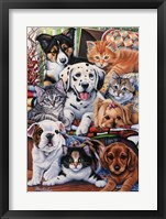 Framed Country Pups and Kittens II
