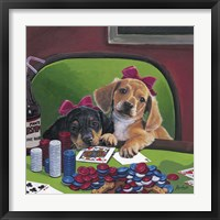 Framed Poker Dogs 3