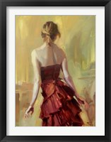 Girl in A Copper Dress 1 Framed Print