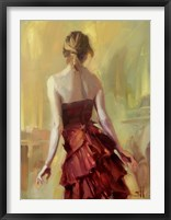 Girl in A Copper Dress 1 Framed Print