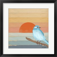 Framed Blue Bird By Water