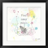 Find Inner Peace Framed Print