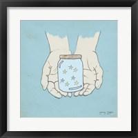 Framed Jar Of Wishes Blue