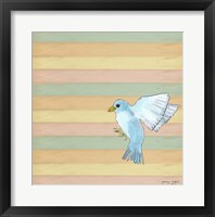 Flying Blue Bird Framed Print