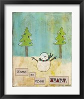 Have An Open Heart Framed Print