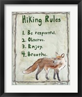 Hiking Rules Framed Print