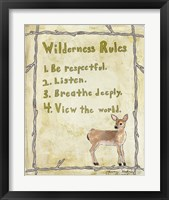 Wilderness Rules Framed Print