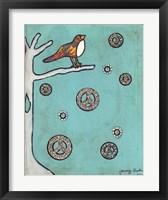 Framed Peace Sign Bird