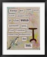 Framed Keep an Open Mind