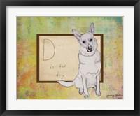 D is For Dog Framed Print
