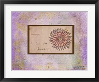 F is For Flower Framed Print