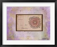 F is For Flower Framed Print