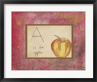 A is For Apple Framed Print