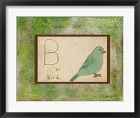 B is For Bird Framed Print