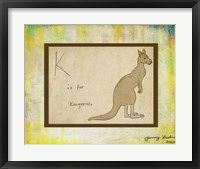 Framed K is For Kangaroo
