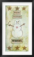 Warm Winter Wishes Framed Print
