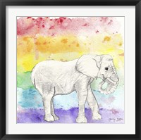 Rainbow Elephant Framed Print