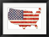 Framed American Flag Continent Cut Out