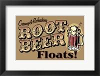Framed Root Beer Floats