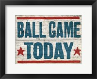 Framed Ball Game Today