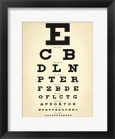 Framed Eye Chart