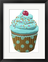 Framed Chocolate Cupcake Blue