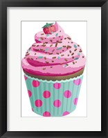 Framed Chocolate Cupcake Pink