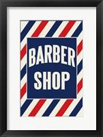 Framed Barber Shop Stripes