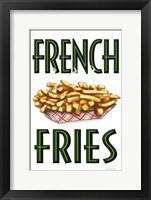 Framed French Fries Vertical