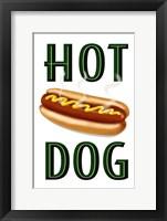 Framed Hot Dog Vertical