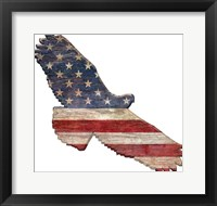 Framed American Flag Eagle Cut Out Flat