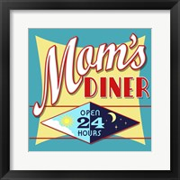Framed Mom's Diner